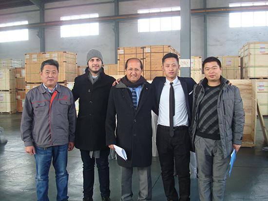 巴西钢厂客户到我厂参观